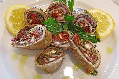 Involtini mit Aubergine, Parmaschinken und getrockneten Tomaten 3