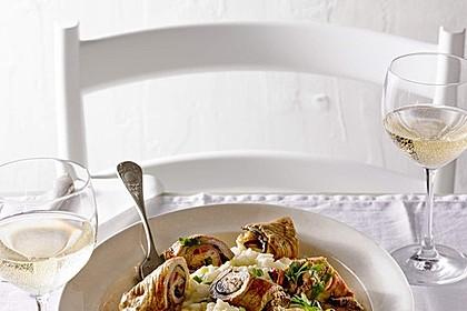 Involtini mit Aubergine, Parmaschinken und getrockneten Tomaten 1
