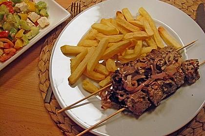 Griechische Fleischspiesse 5