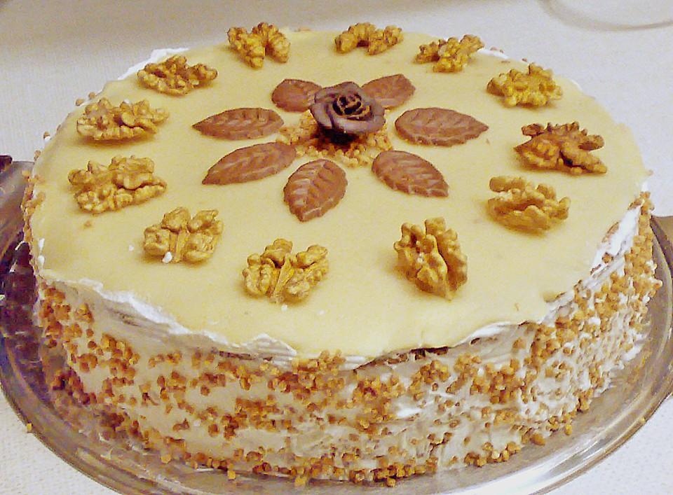 Marzipan nuss torte rezept mit bild von beatka23 - Torten dekorieren mit marzipan ...