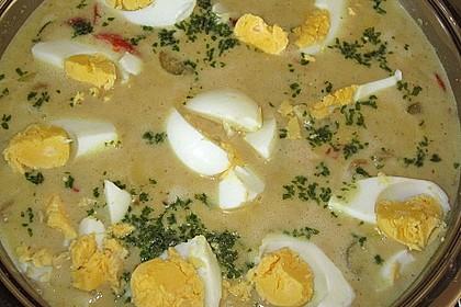 Eier auf Kartoffeln und Champignons 4