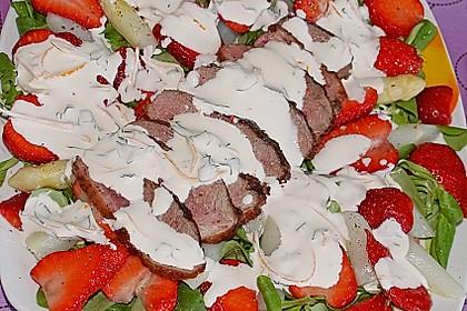 Spargel mit Erdbeeren und Entenbrust 17