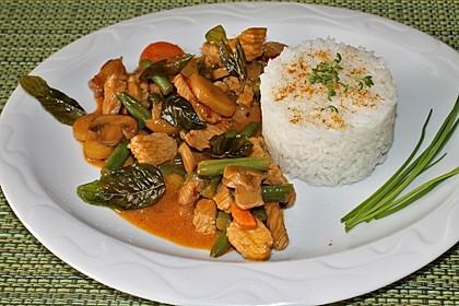 Thailändische Wokpfanne mit Kokosmilch 1