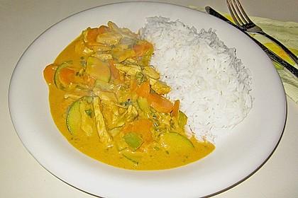 Thailändische Wokpfanne mit Kokosmilch 14