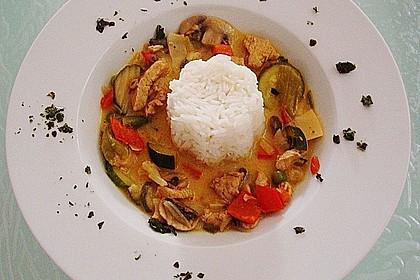 Thailändische Wokpfanne mit Kokosmilch 7