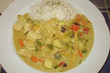 Thailändische Wokpfanne mit Kokosmilch 17