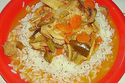 Thailändische Wokpfanne mit Kokosmilch 31