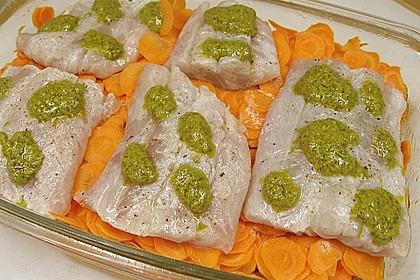 Gebackenes Fischfilet auf Gemüsebett 3