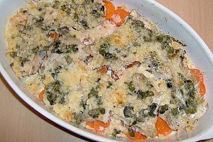 Gebackenes Fischfilet auf Gemüsebett 2