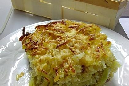 Porree - Kasseler - Auflauf mit Kartoffelkruste 4