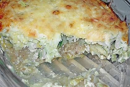 Porree - Kasseler - Auflauf mit Kartoffelkruste 6