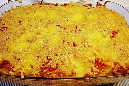 Porree - Kasseler - Auflauf mit Kartoffelkruste 3