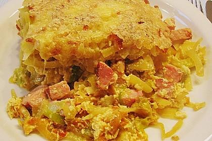 Porree - Kasseler - Auflauf mit Kartoffelkruste 7