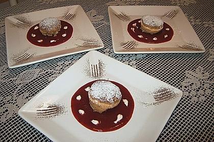 Käse - Soufflé mit Erdbeeren 1