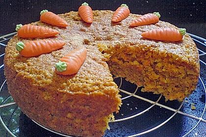 Möhrenkuchen ohne Fett 3