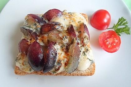 Käse - Trauben - Toast