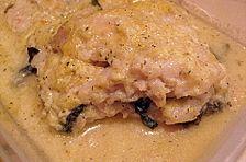 Lasagne von Seezunge und Spinat