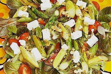 Salatvariation mit gebratenem Spargel 5