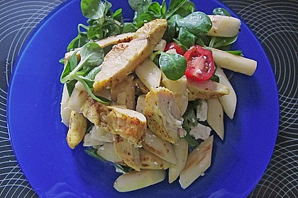 Salatvariation mit gebratenem Spargel 3