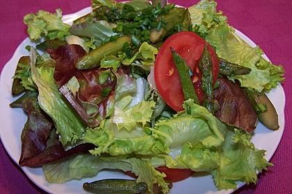 Salatvariation mit gebratenem Spargel 2