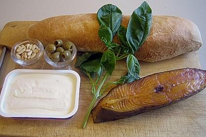 Ciabatta mit Heilbutt - Oliven - Creme 1