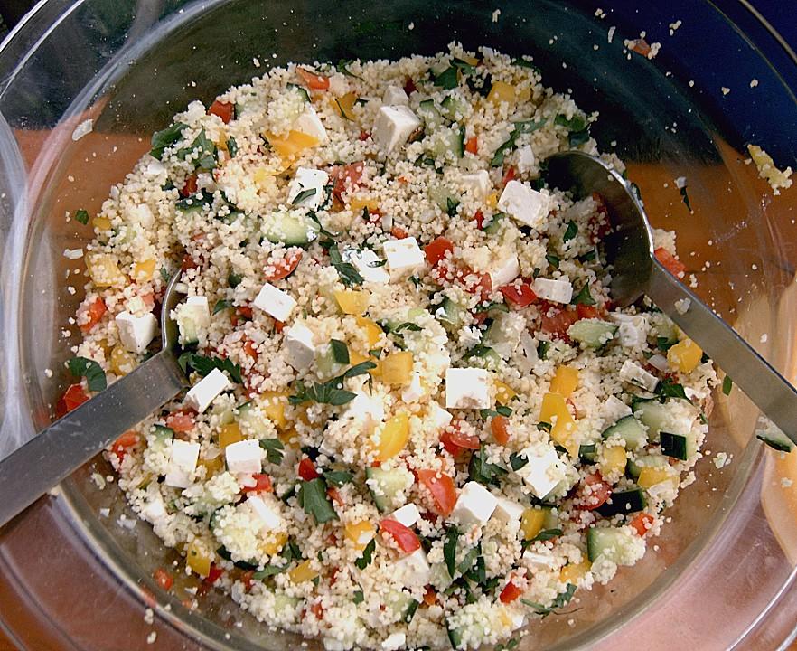 Couscous salat sauce