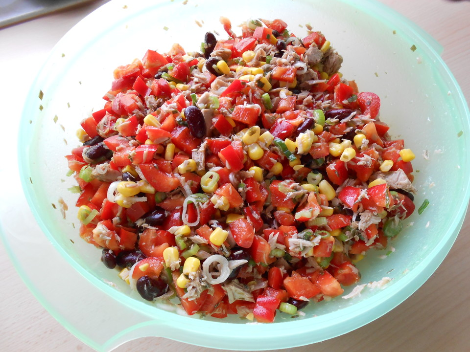 Thunfisch salat mit mais
