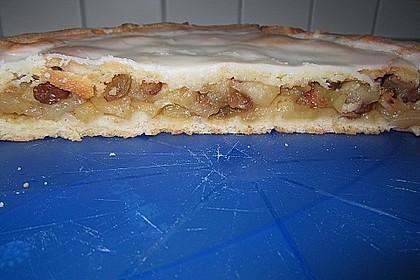 Apfelkuchen, gedeckt 12