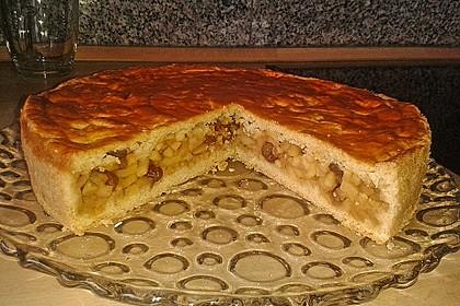 Apfelkuchen, gedeckt 1