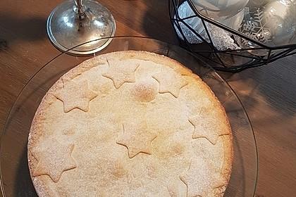 Apfelkuchen, gedeckt