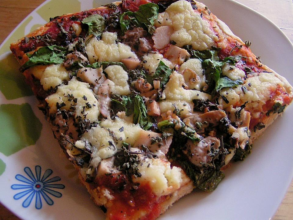 pizza mit fisch und spinat rezept mit bild von p tty. Black Bedroom Furniture Sets. Home Design Ideas