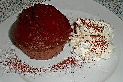 Schokoladenkuchen mit flüssigem Kern à la Italia 97