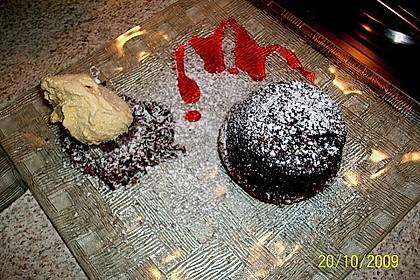Schokoladenkuchen mit flüssigem Kern à la Italia 127