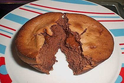 Schokoladenkuchen mit flüssigem Kern à la Italia 98