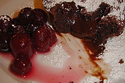 Schokoladenkuchen mit flüssigem Kern à la Italia 128