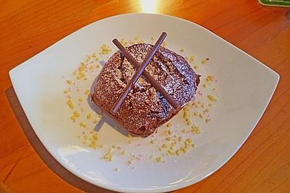 Schokoladenkuchen mit flüssigem Kern à la Italia 74