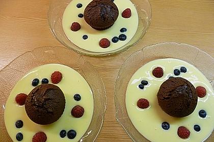 Schokoladenkuchen mit flüssigem Kern à la Italia 80