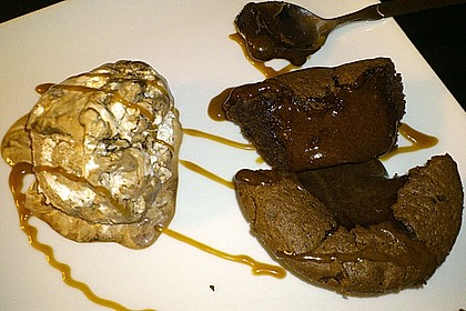 Schokoladenkuchen mit flüssigem Kern à la Italia 147