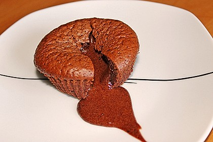 Schokoladenkuchen mit flüssigem Kern à la Italia 50