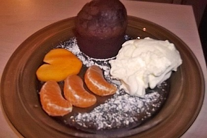 Schokoladenkuchen mit flüssigem Kern à la Italia 160