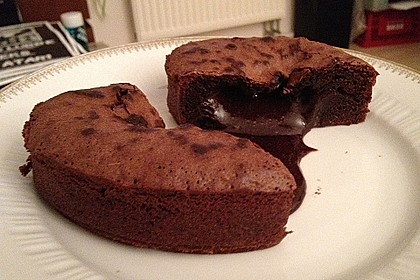 Schokoladenkuchen mit flüssigem Kern à la Italia 96