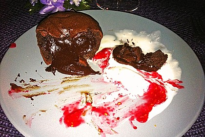 Schokoladenkuchen mit flüssigem Kern à la Italia 176