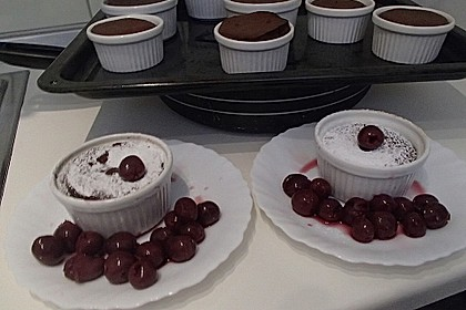 Schokoladenkuchen mit flüssigem Kern à la Italia 100