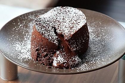 Schokoladenkuchen mit flüssigem Kern à la Italia 4