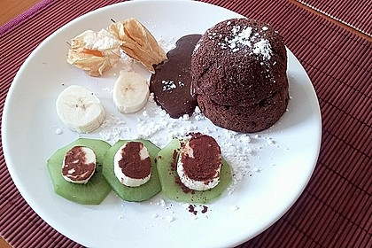 Schokoladenkuchen mit flüssigem Kern à la Italia 105