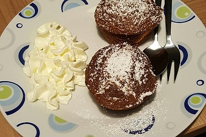 Schokoladenkuchen mit flüssigem Kern à la Italia 95