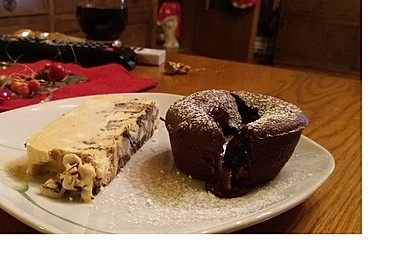 Schokoladenkuchen mit flüssigem Kern à la Italia 94