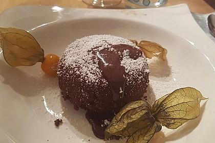 Schokoladenkuchen mit flüssigem Kern à la Italia 91