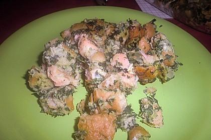 Auflauf mit Spinat und Lachs