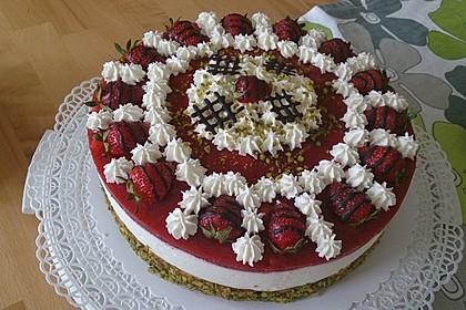 Erdbeer - Limetten - Torte